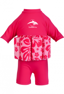 Konfidence Floatsuit Hibiscus Pink S 2-3 Jahre